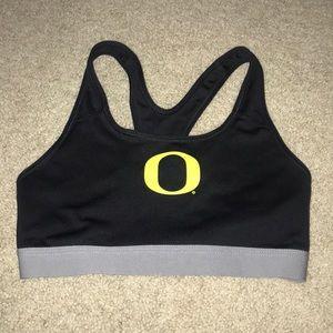 Oregon Ducks sports bra